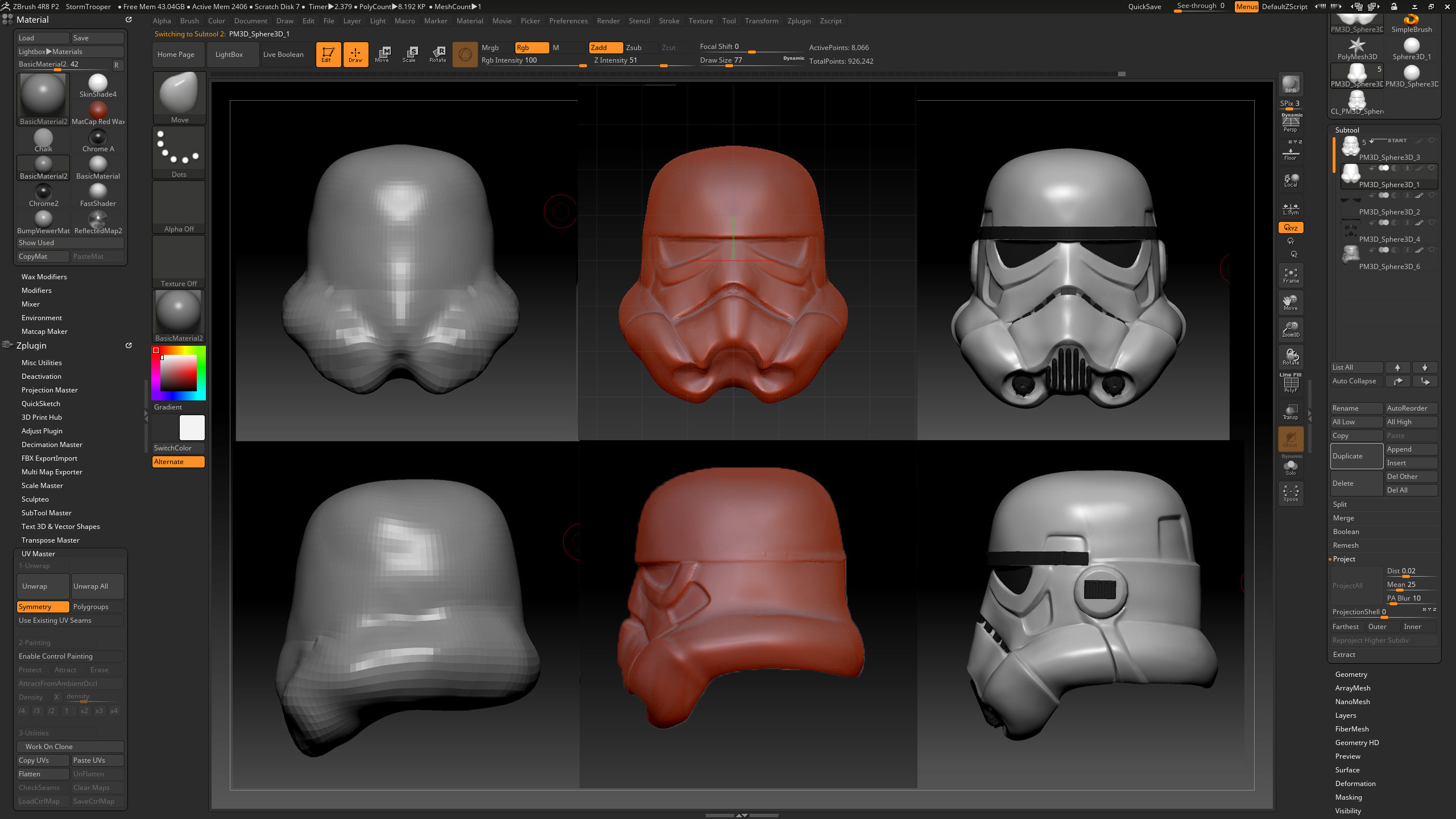 Storm trooper helmet sculpt