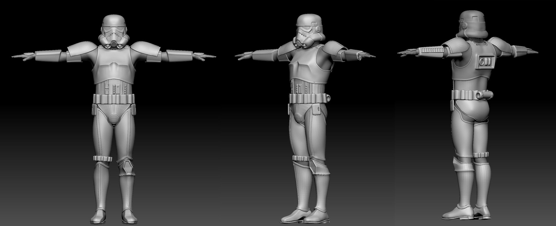 Storm trooper suit sculpt