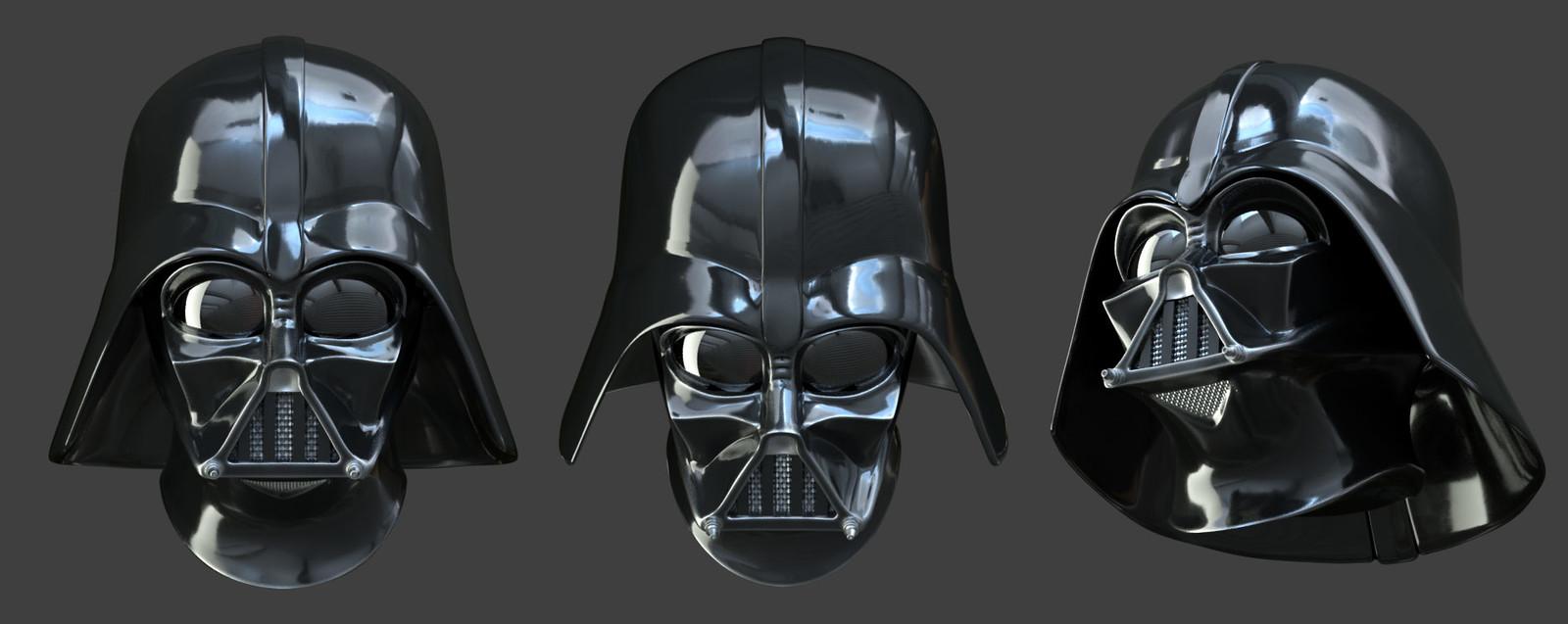 Darth Vader Helmet Render