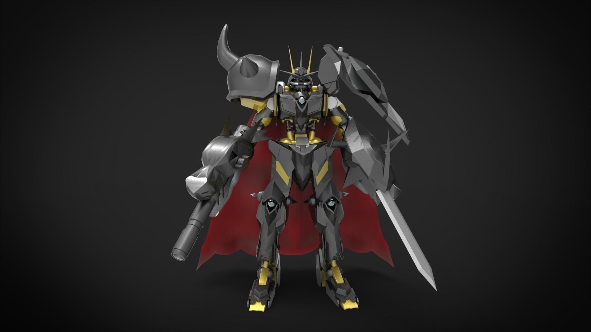 ArtStation - Gundam Omegamon Zwart (Omnimon Zwart), Wahyu ...