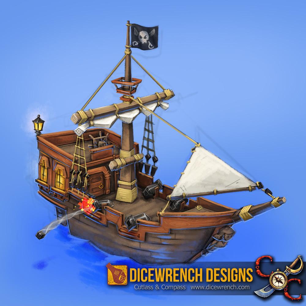 Allen white pirateboat1