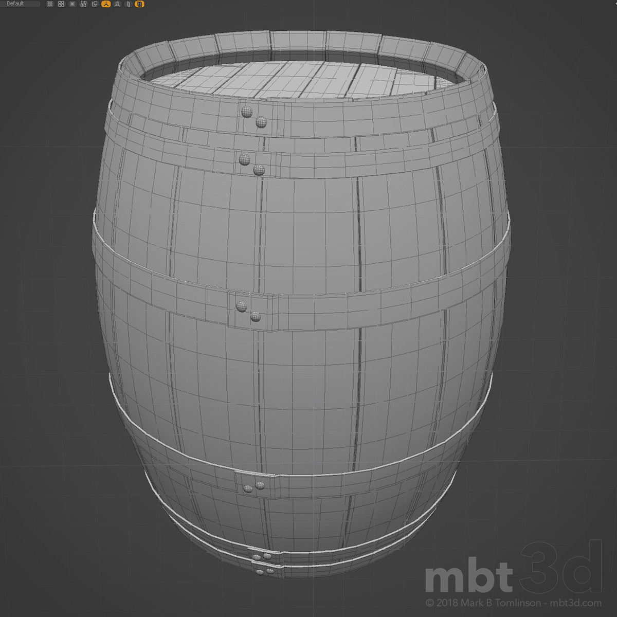 Wine Barrel Wireframe