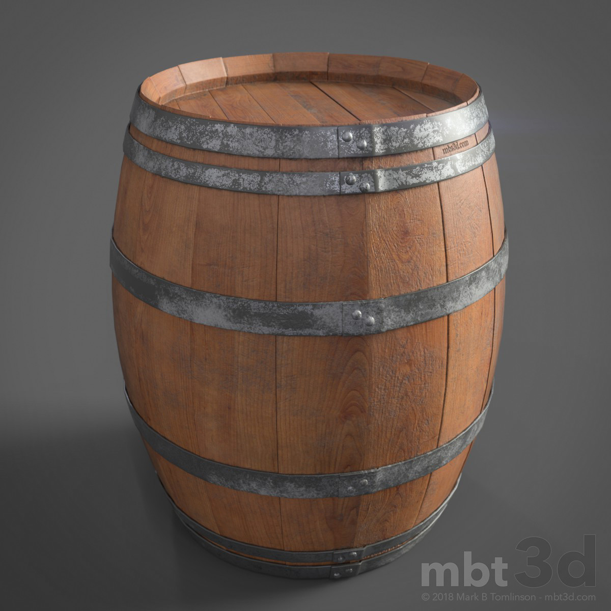Wine Barrel Top 3/4