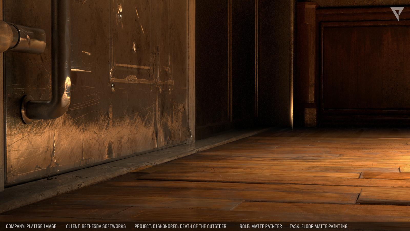 Floor and door mattepainting.