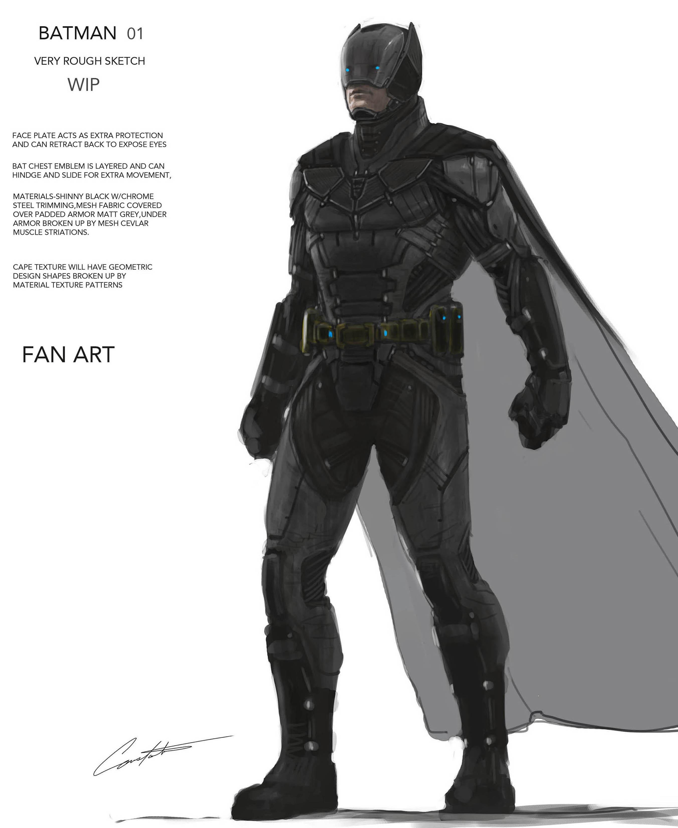 Batman FANART rough sketch