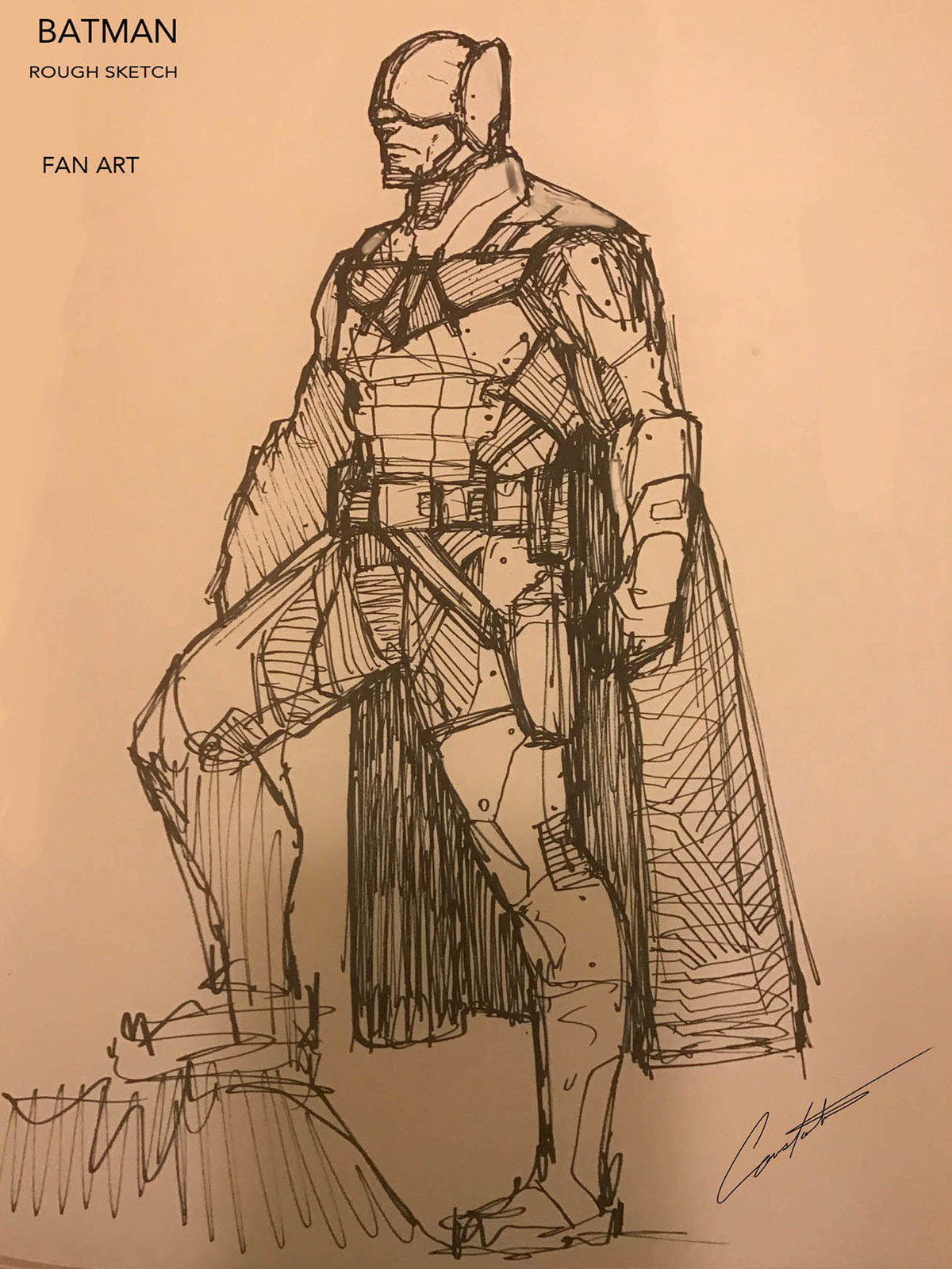 Batman FANART rogh sketch