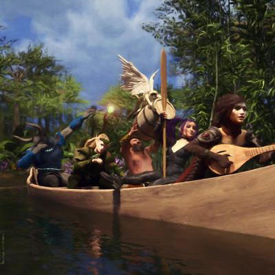 Benni a canoe
