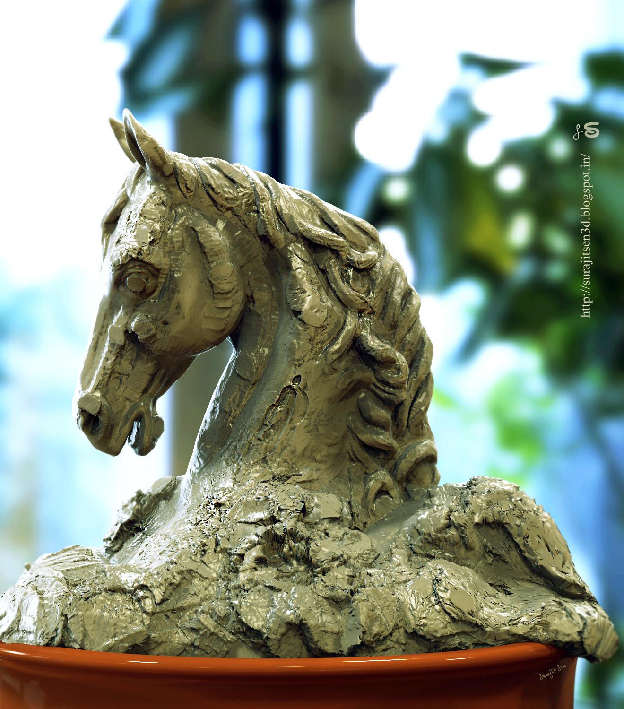 Surajit sen horse clay sculpt surajitsen 17072018 ins