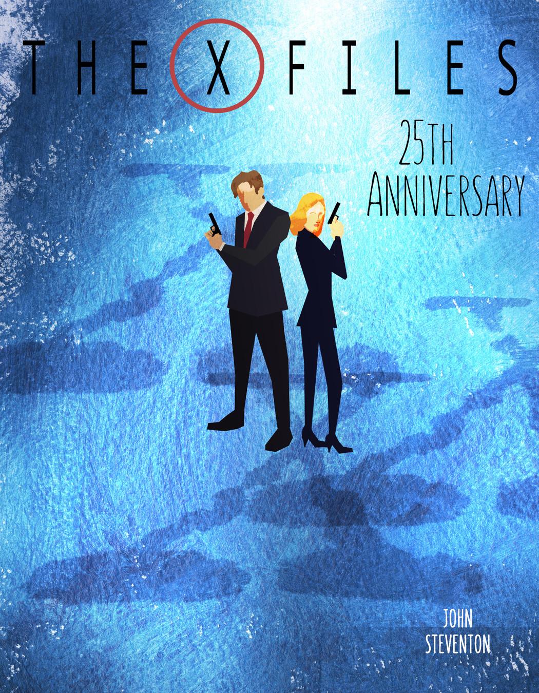 X-Files Anniversary Art: Modified for SDCC 2018 Souvenir Book