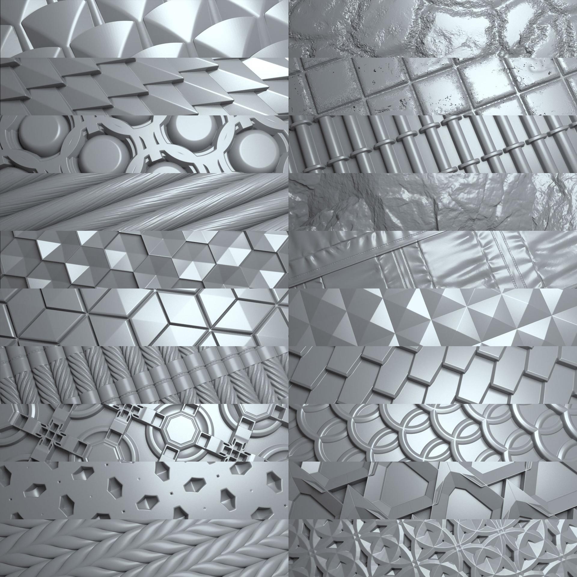 Travis davids 100 tileable displacement patterns preview 5