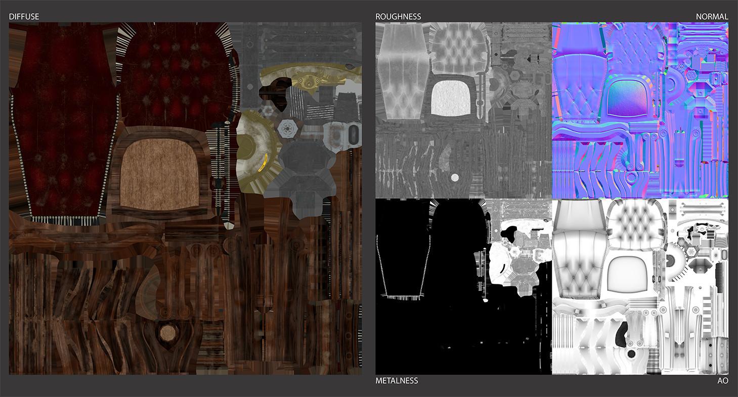Paul foster chair sheet textures