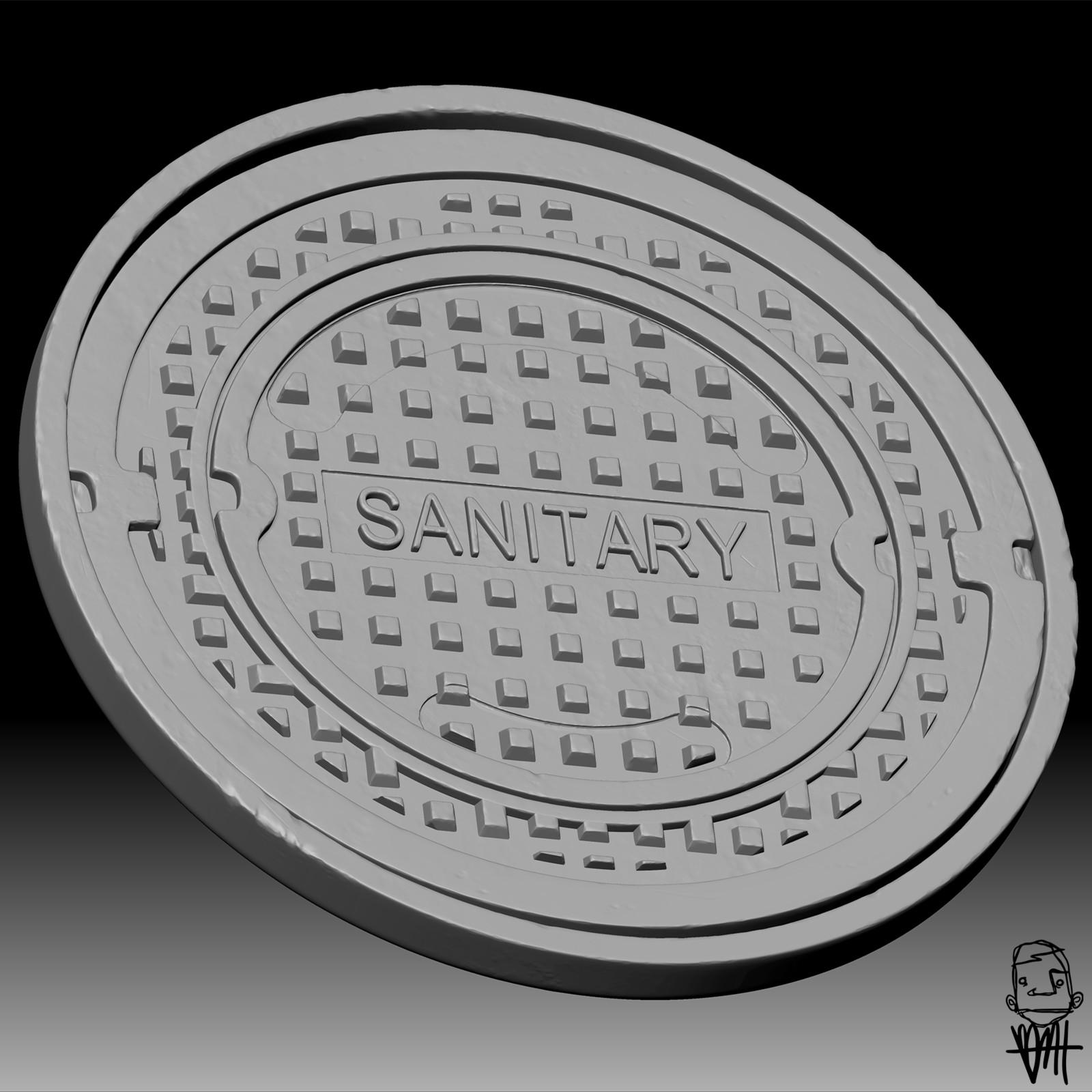 Manhole Cover Sculpt