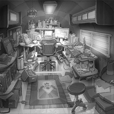 Bob's Office Trailer interior (view 1)