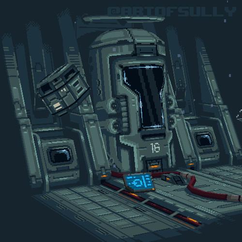 'Dawn' - Halo 4 Lowpoly Pixel Fanart