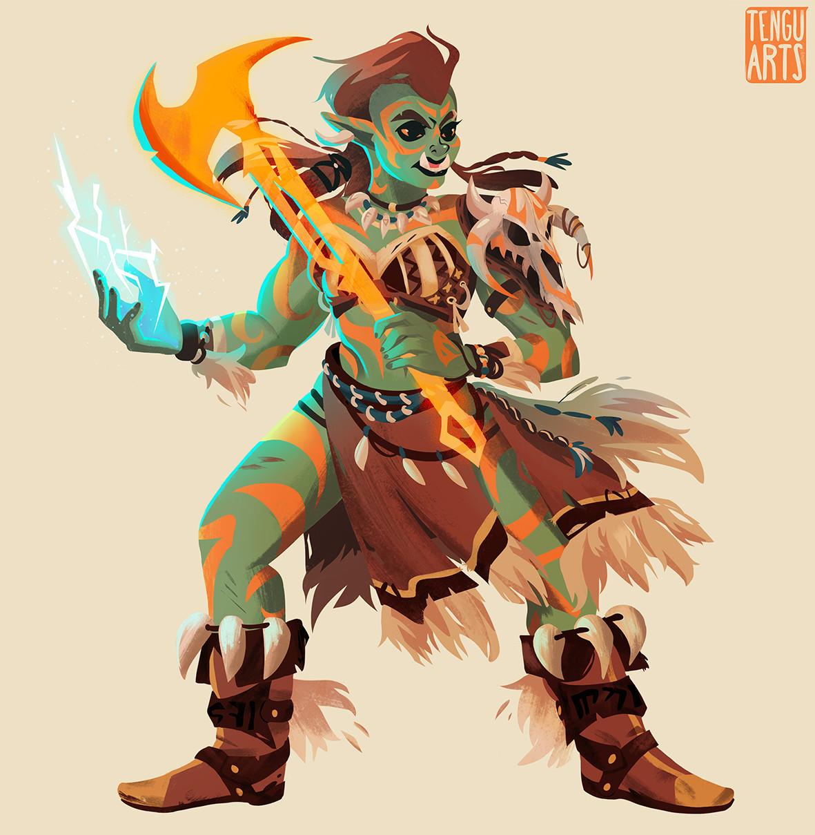 Melaka Half-Orc Warlock