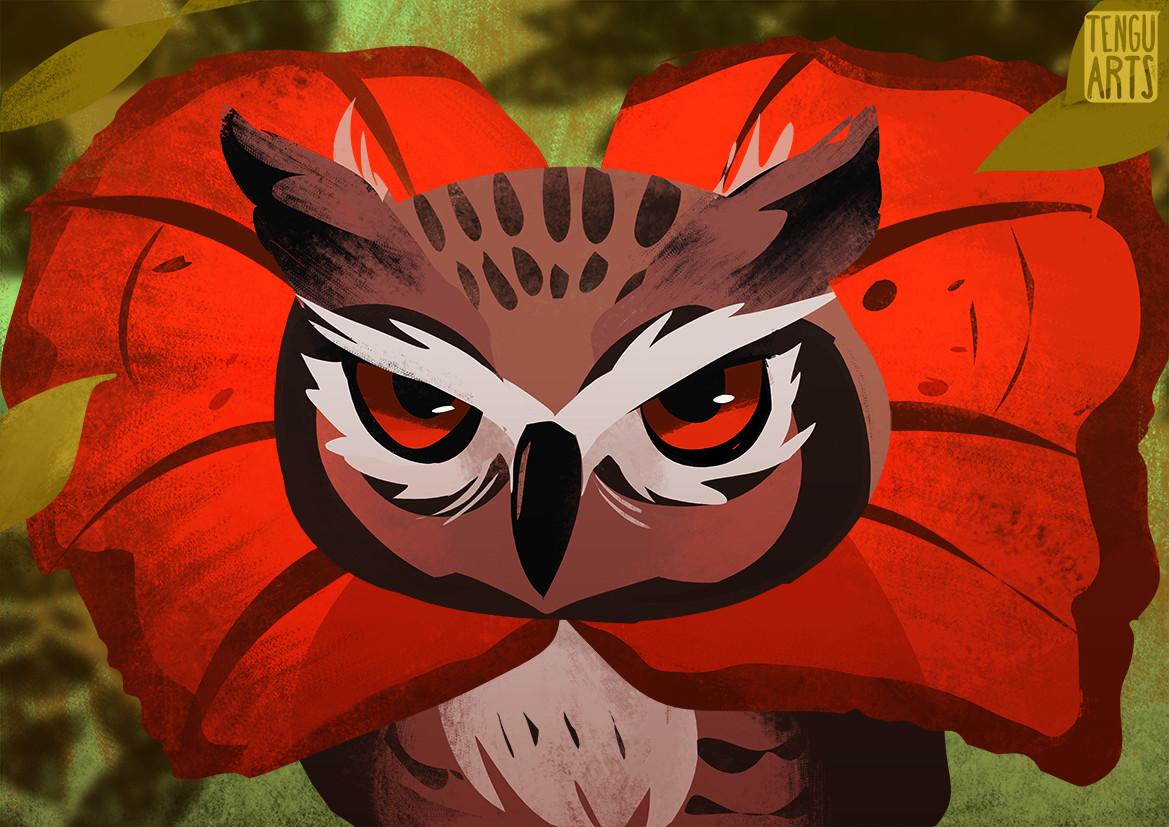 Michelle henderson owl lizard