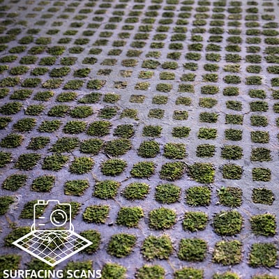Surfacing Scans - Grid Grass Brick Preview