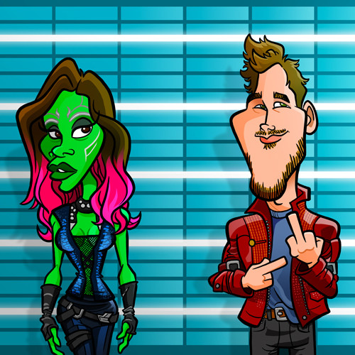 Gamora and Star-Lord