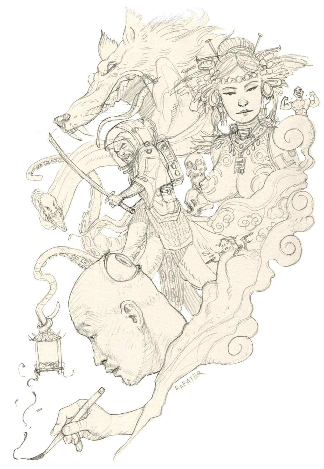 Rafael teruel firestarter kim yung gi rafater pencil drawing