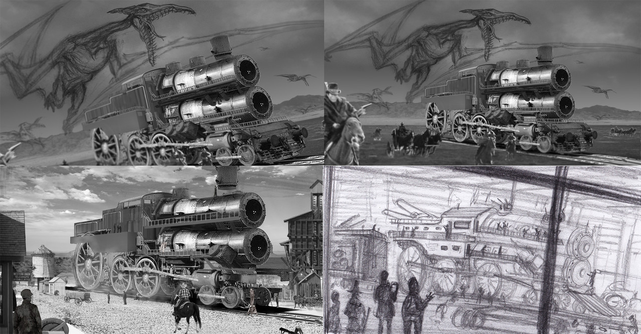 Battle train build sketchs