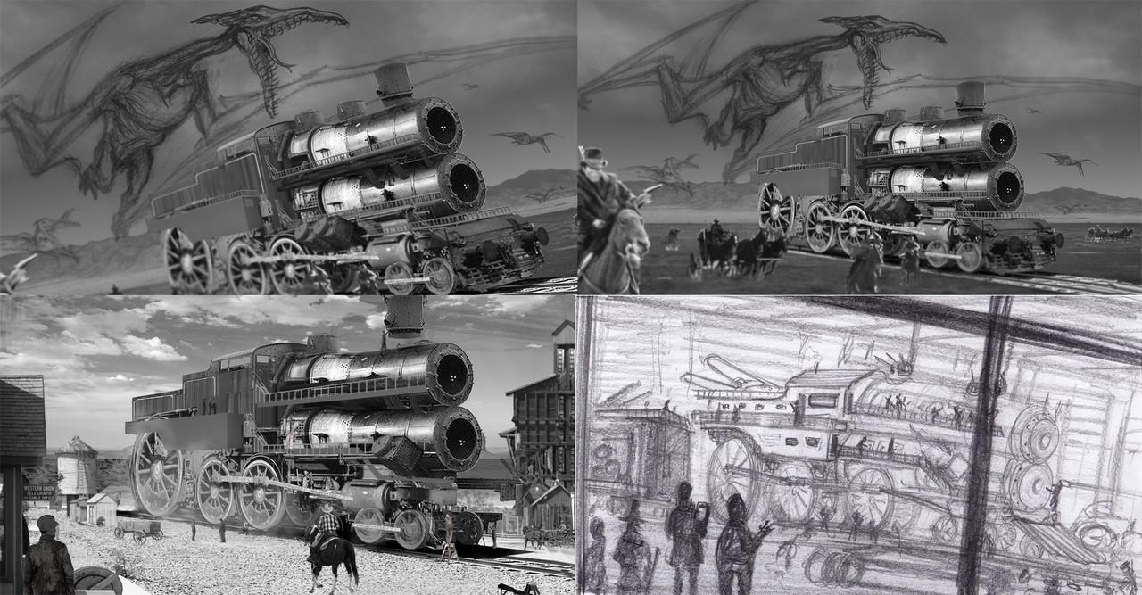 Battle train build sketchs