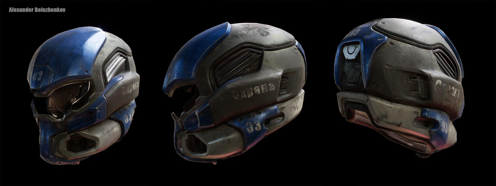 Alexander boluzhenkov helmet lowpoly