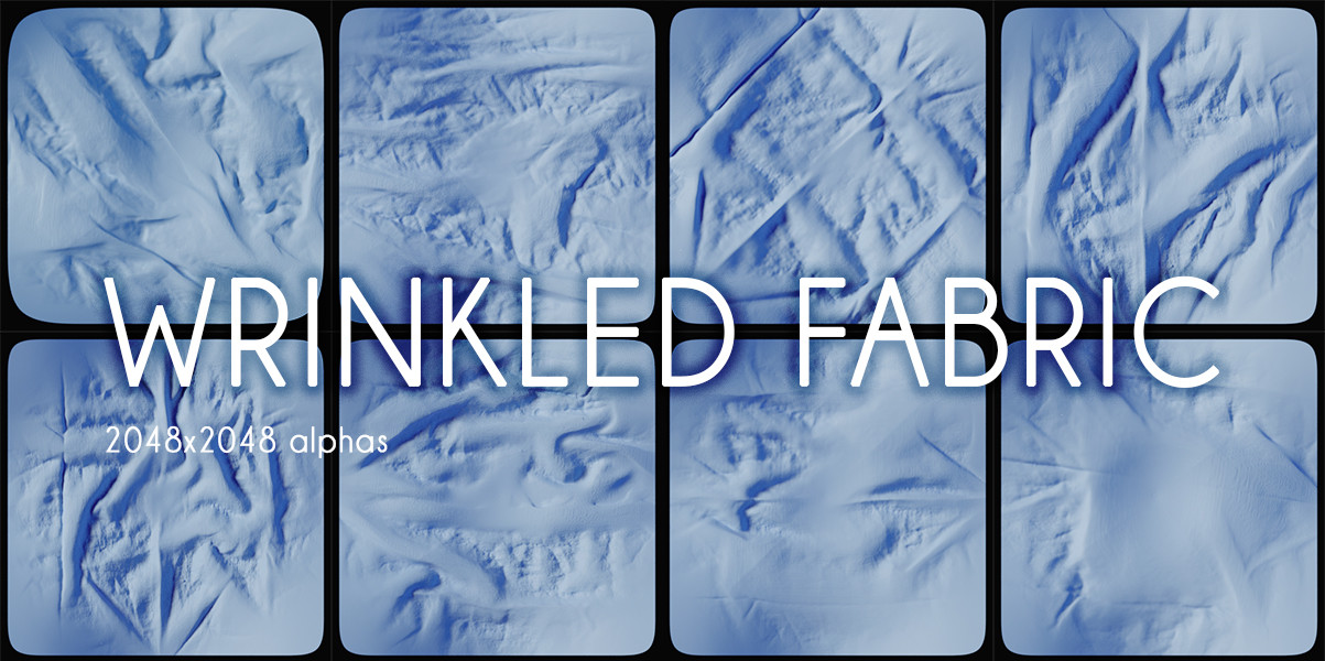 Marc Hej  - Heightmaps - Wrinkled fabric session 01 from