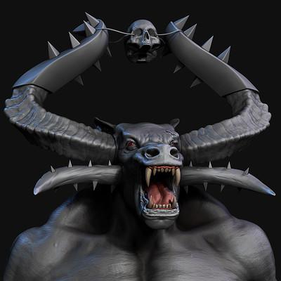 Minotaur Creature Sculpt