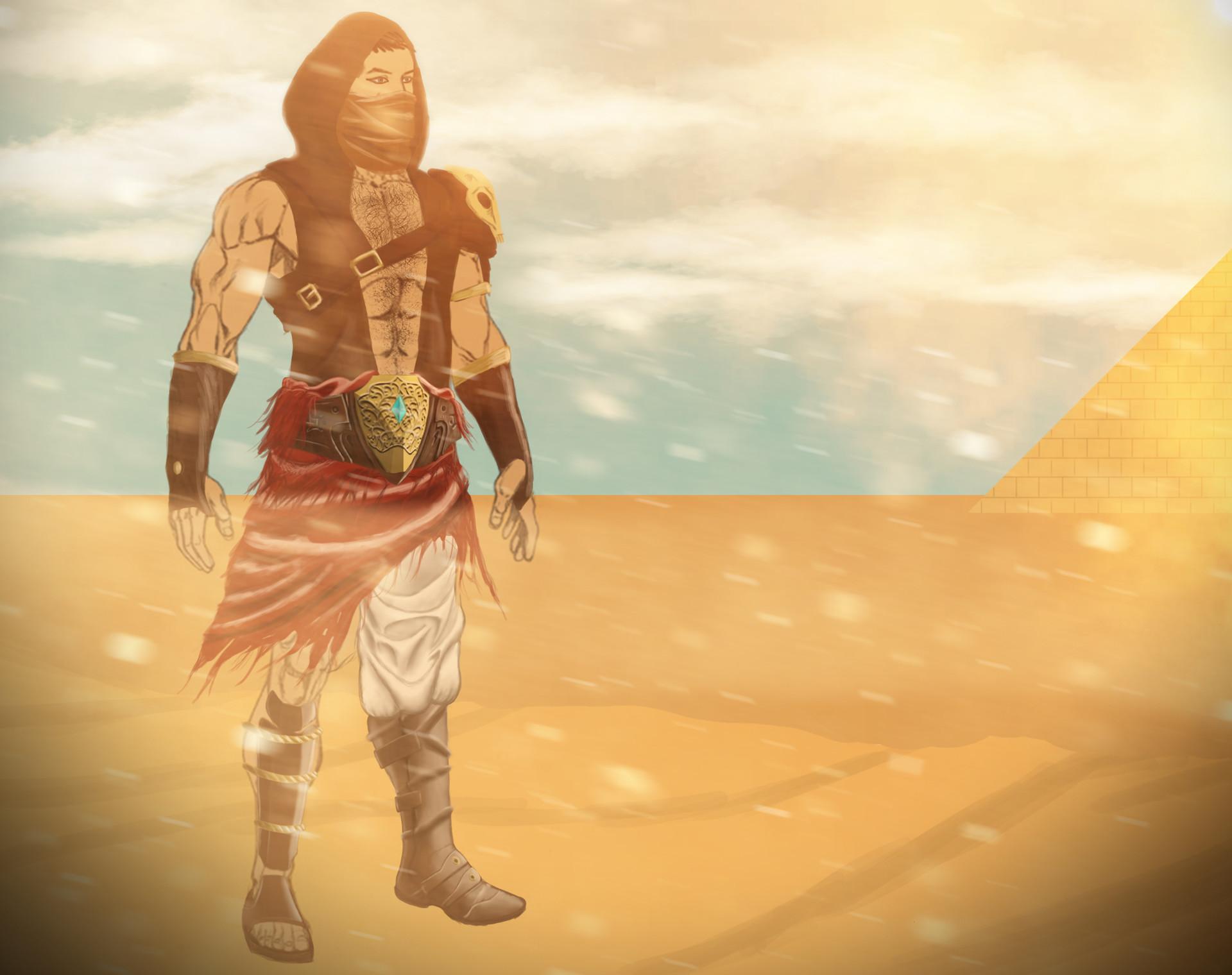 Artstation Desert Warrior Concept Art Mustafa Berke Gureltol