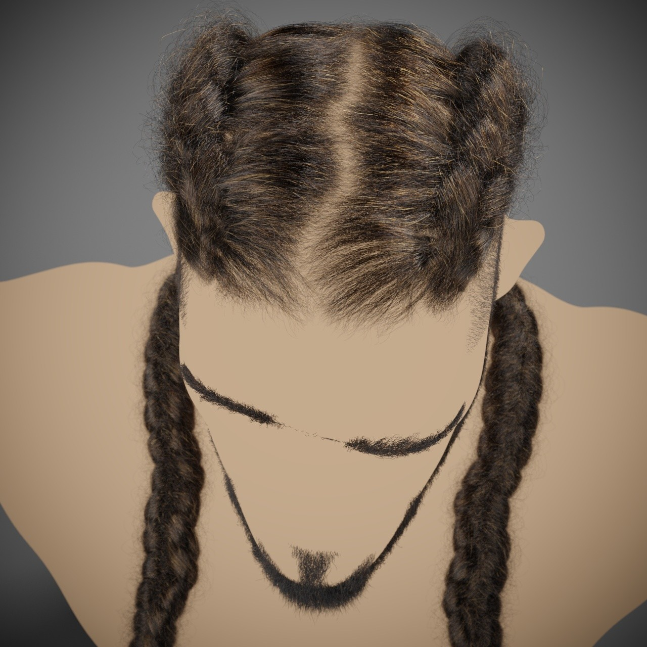 Joseph hairstyle with changes for beard and silhouette.
