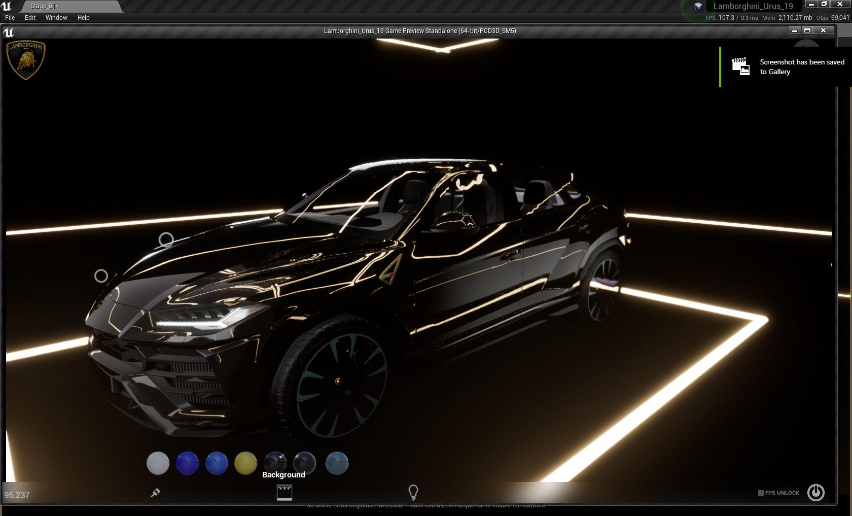 ArtStation - Unreal Engine - Lamborghini Urus 2019 Configurator(WIP