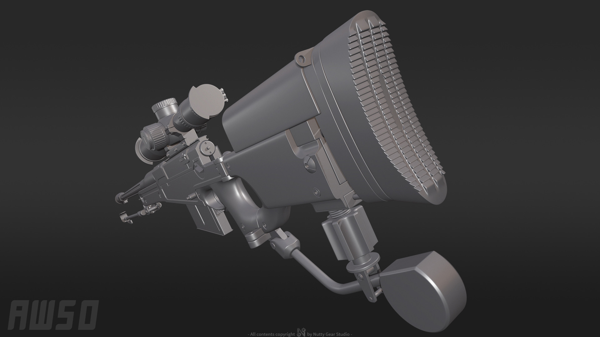 ArtStation - Accuracy International AW50 with modifications \ 12,7