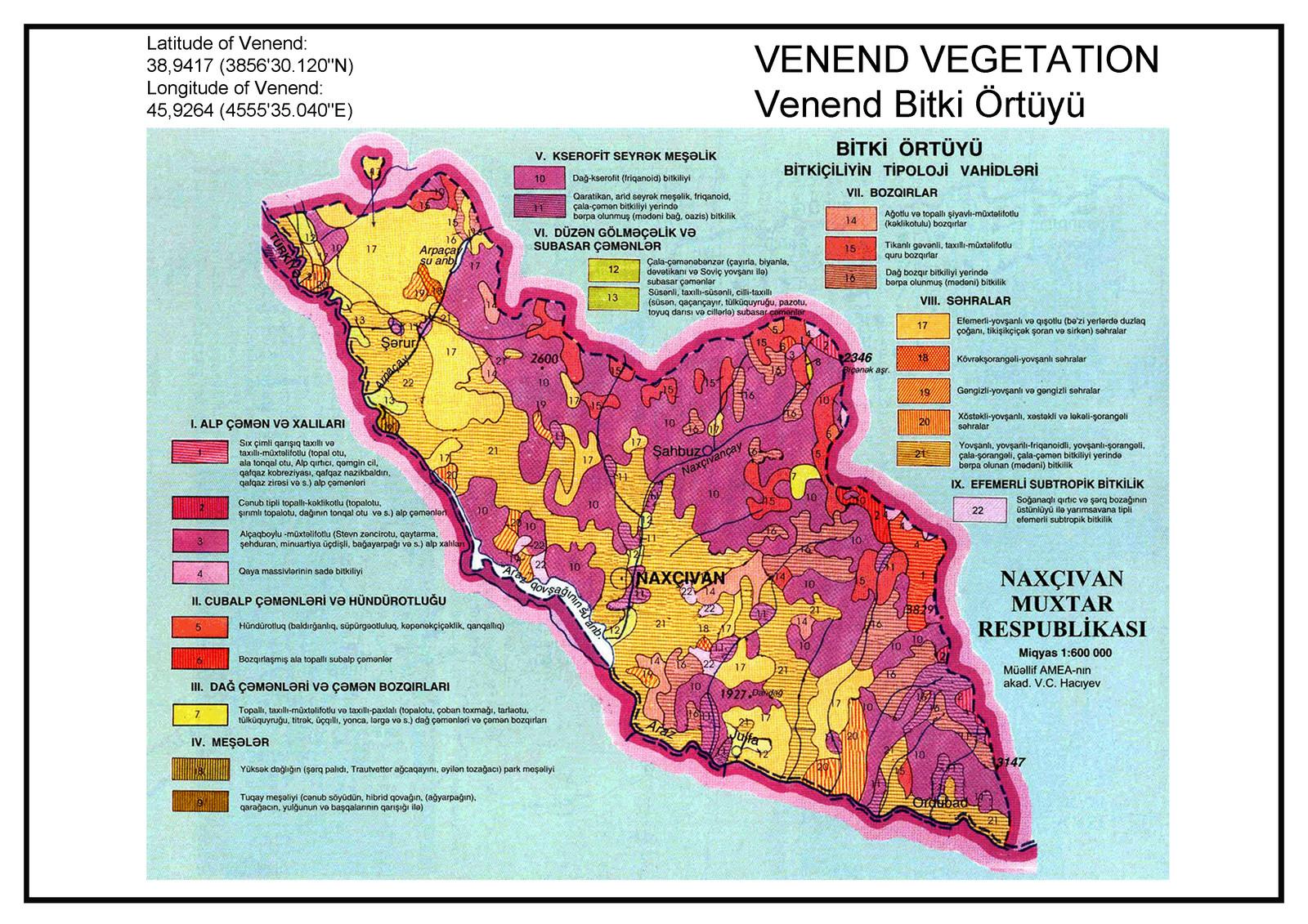 Venend Vegetation Map
