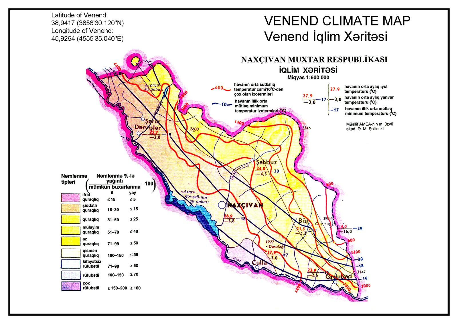 Venend Climate Map