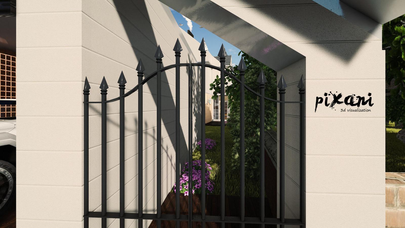 Venend Home garden entrance