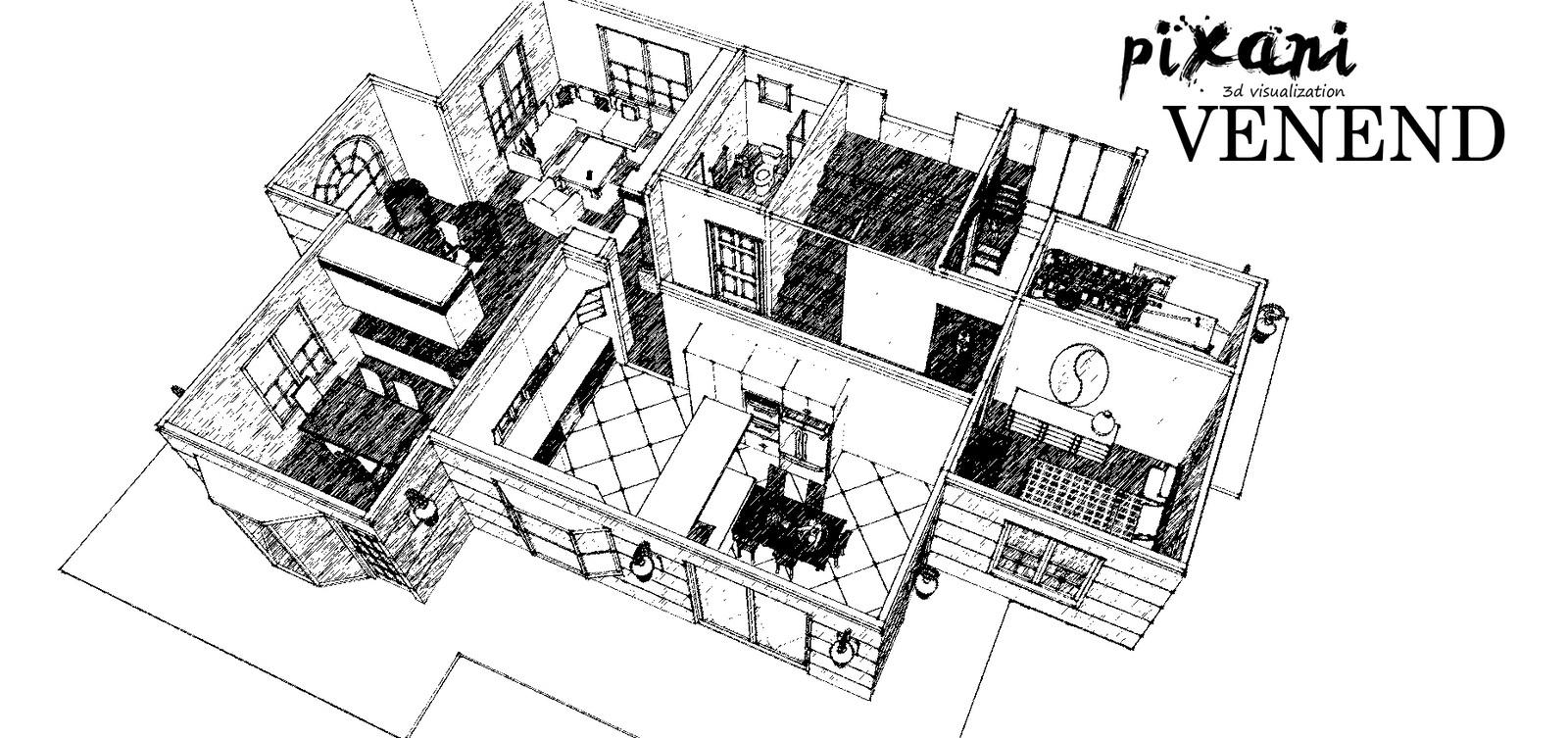 Venend Home 3D floor plan