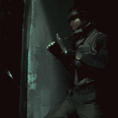 Alexander mandradjiev snake vs cyborg ninja wip v2