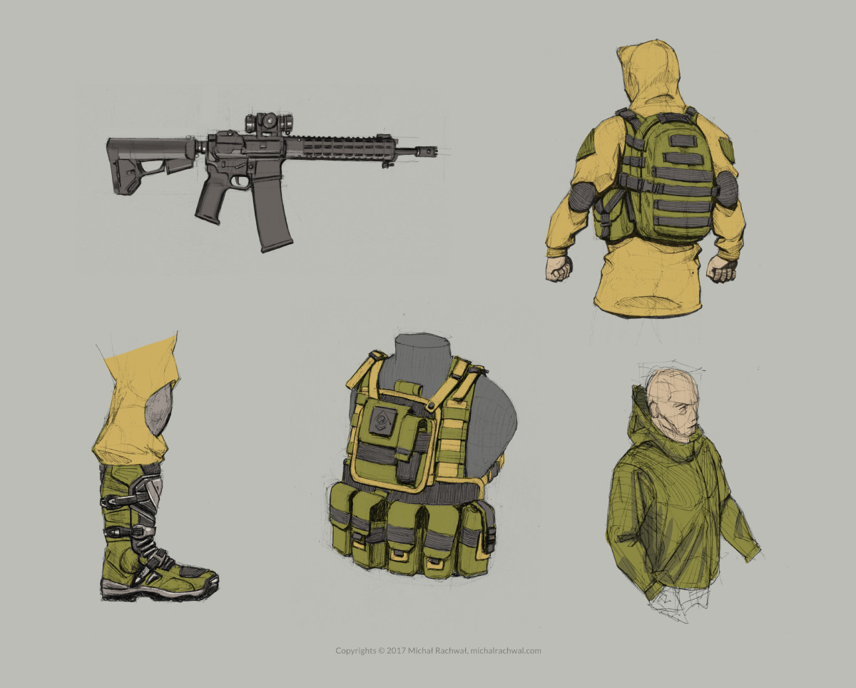Michal rachwal michal rachwal tactical gear sketches4