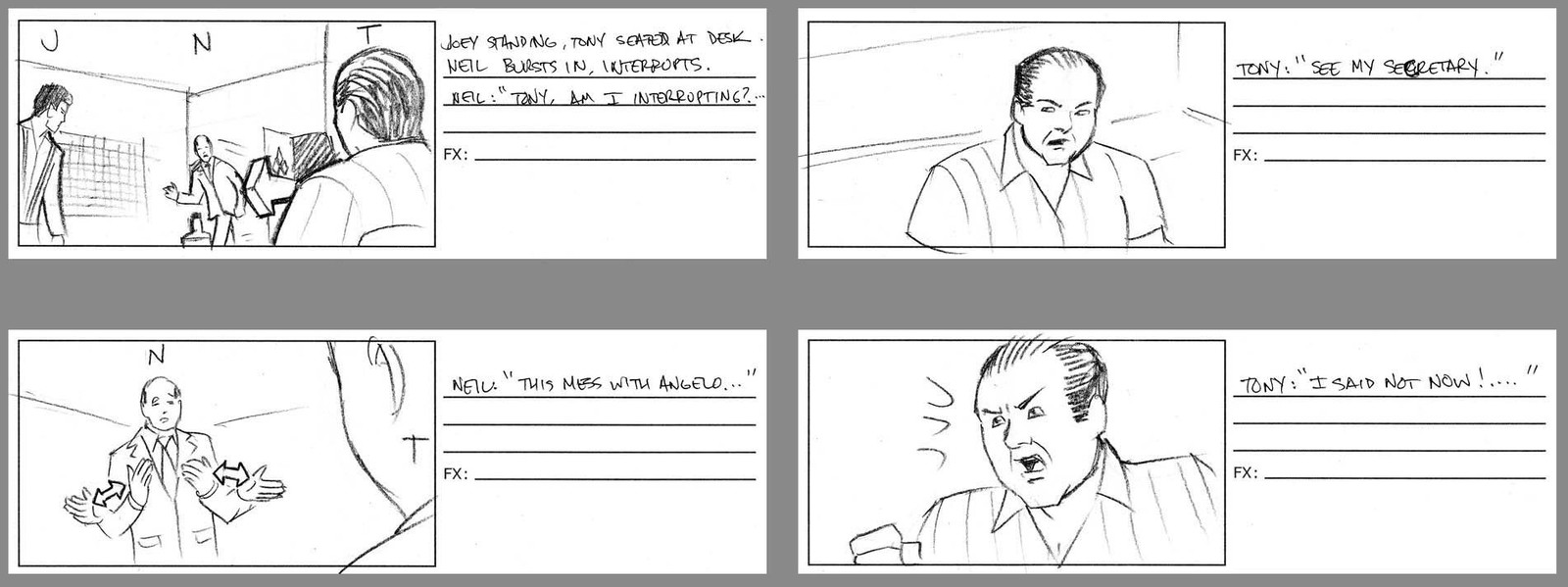Sopranos Game Cinematic Boards