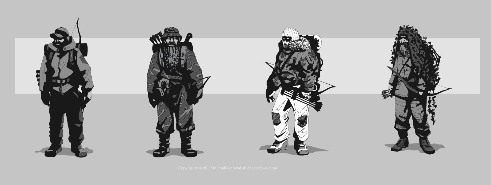 Michal rachwal michal rachwal hunter sketches1
