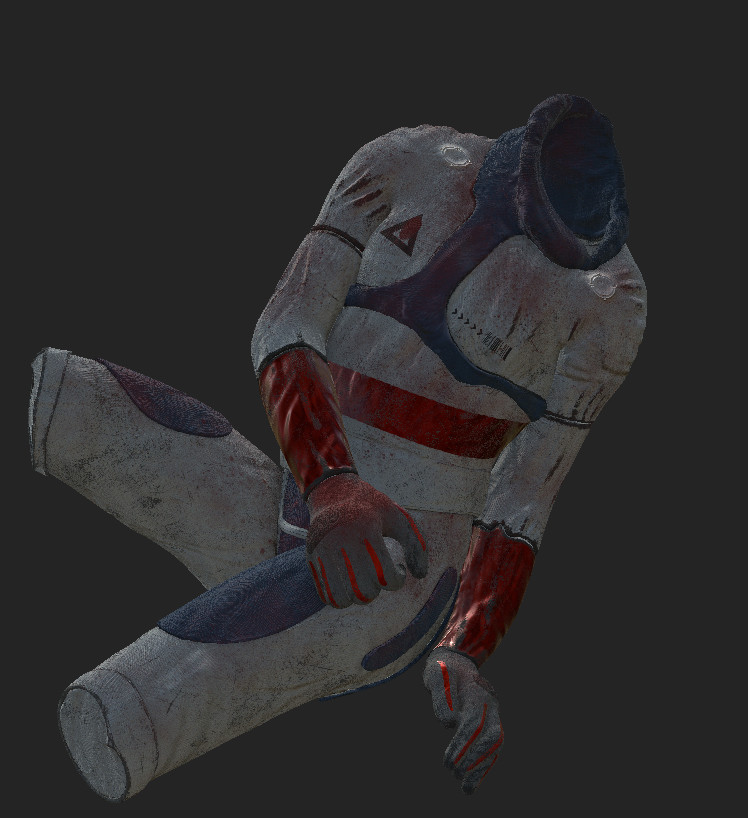 Process of texturing of the astronaut on Substance Painter
