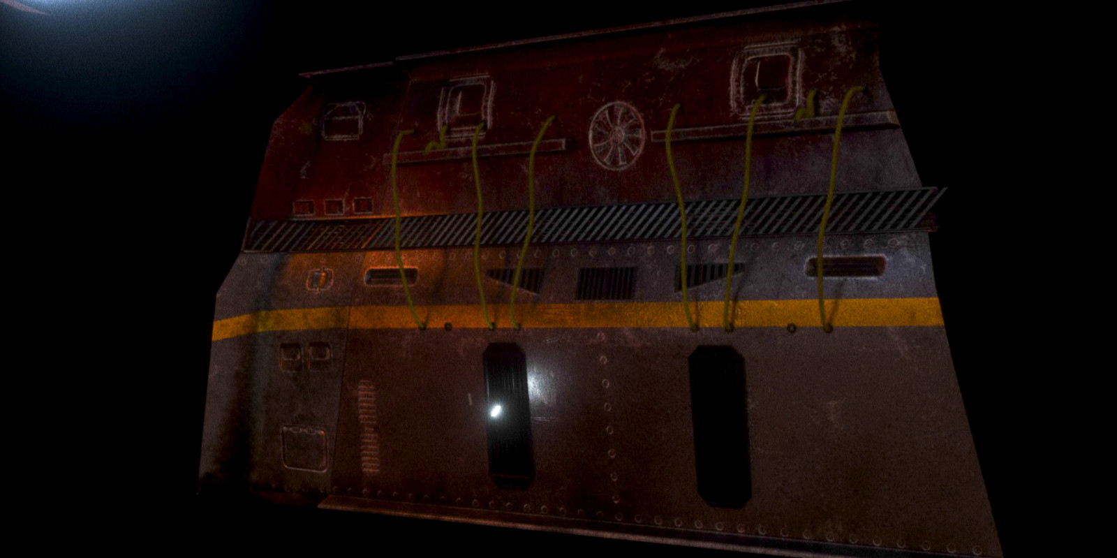 Asset of the project: Wall (Modeled: Cinema4D, textured: Substance Painter, rendered: Octane Render)