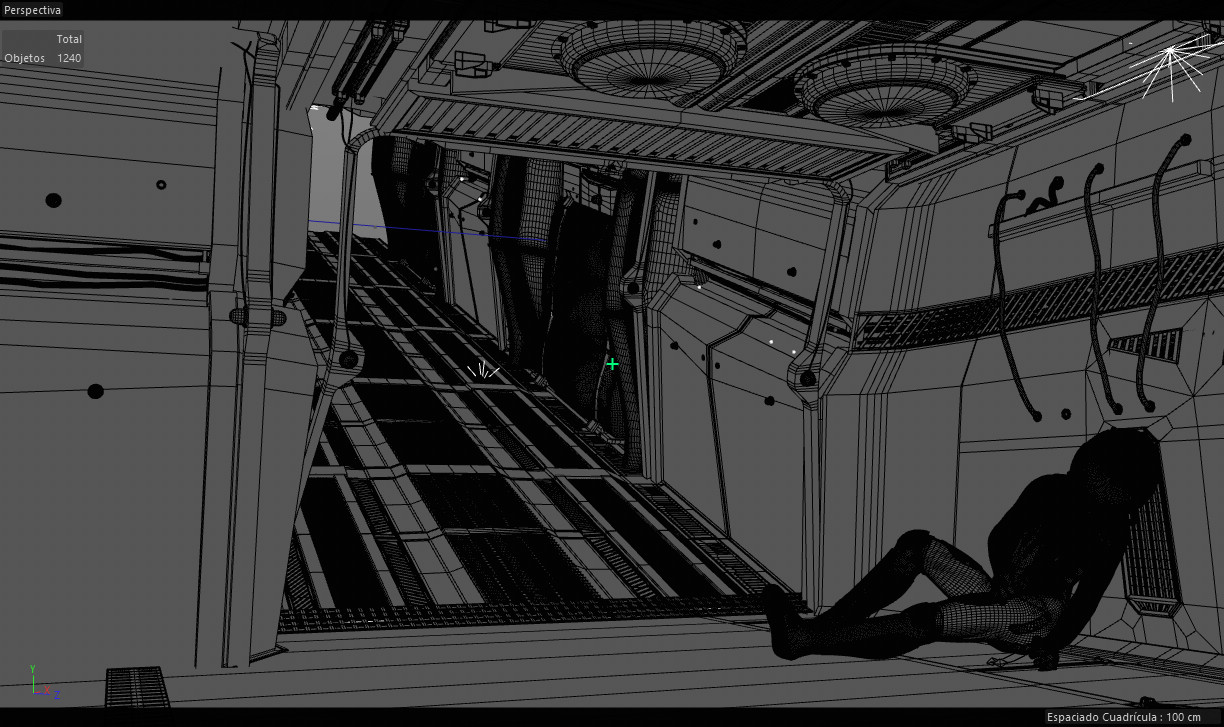 A look on the Cinema4D viewport