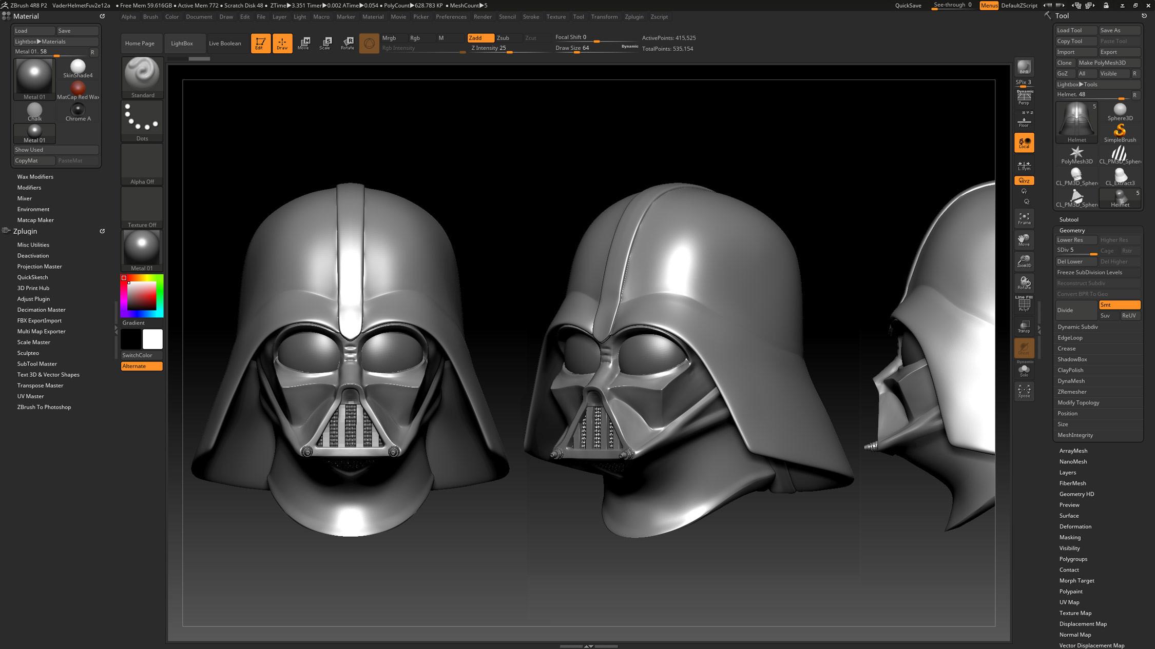 Darth Vader Helmet Sculpt