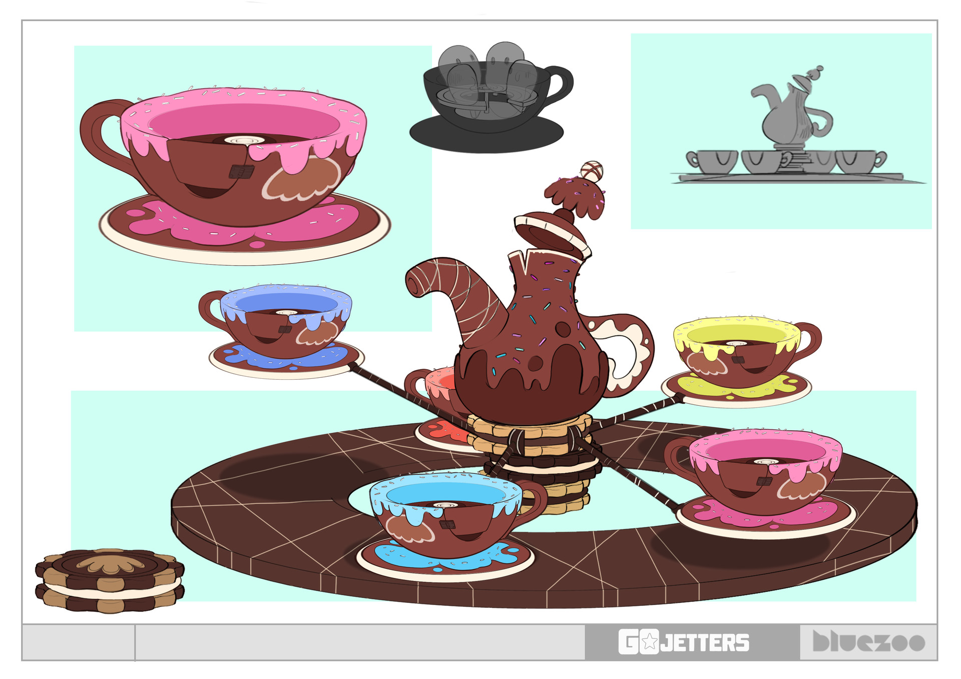 Francesco mazza chocolate teacup carousel v01