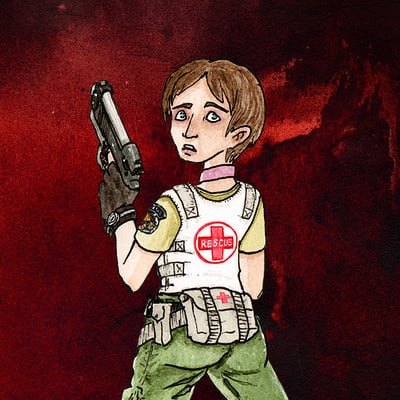 Thomas roberts goulden rebecca chambers resident evil