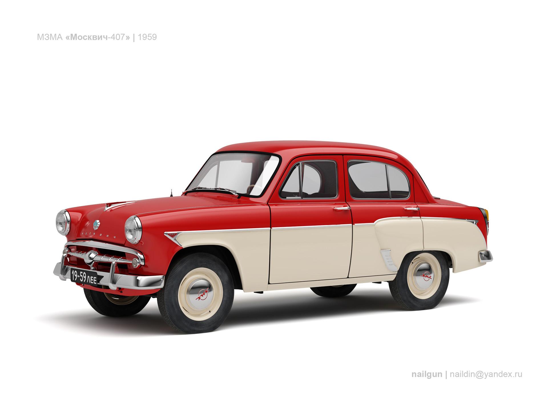 Nail khusnutdinov ussr moskvich 407 1959 0