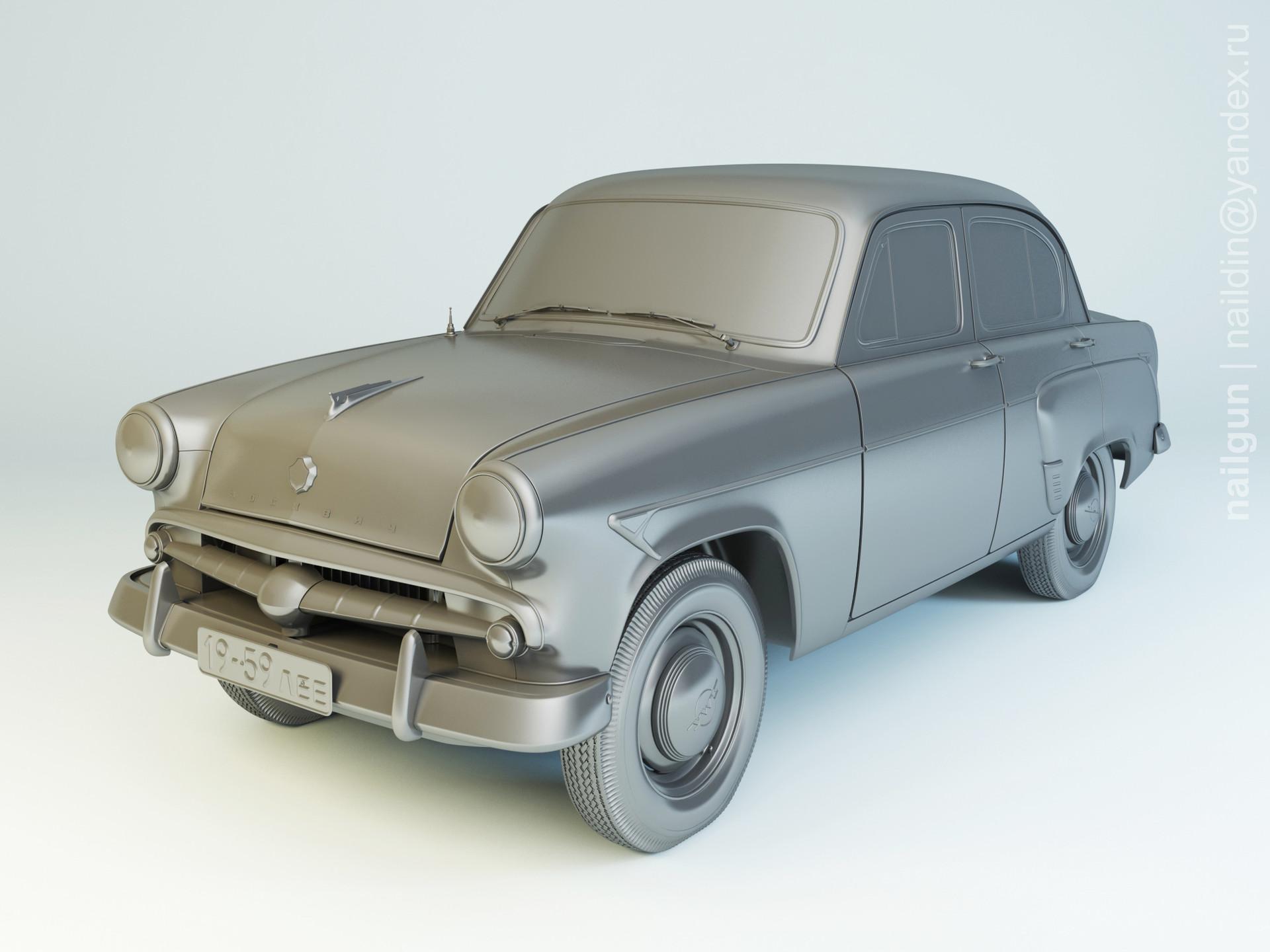 Nail khusnutdinov als 204 000 moskvich 407 1959 modelling 0