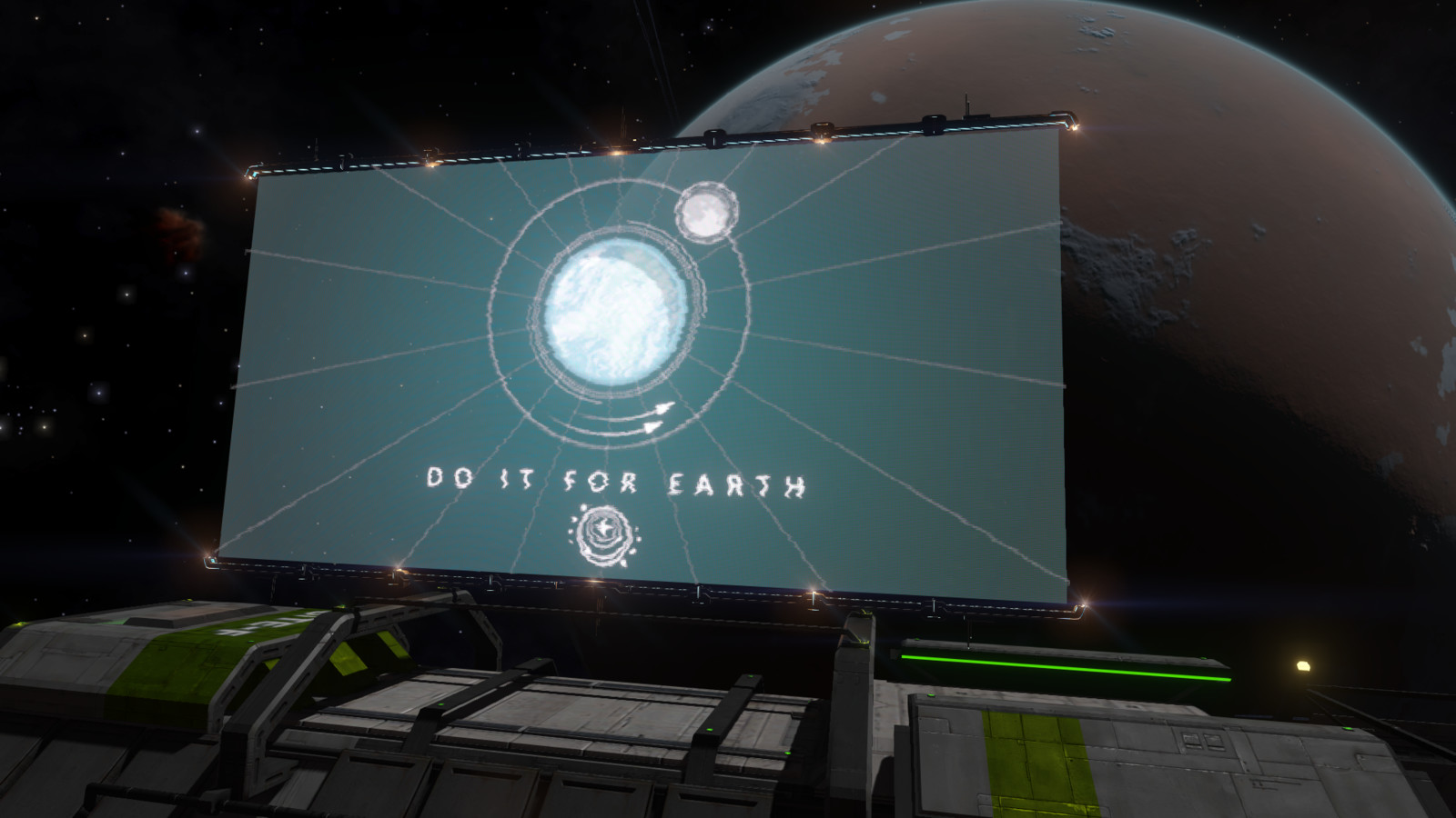 Do it for Earth, in game.