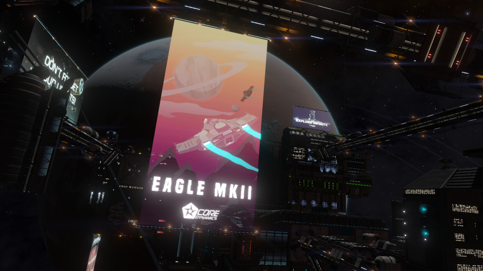 Eagle, in game.
